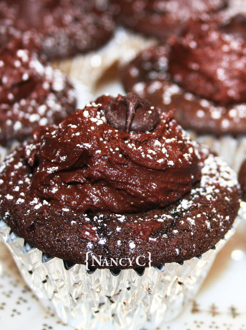 Dark Chocolate Cupcakes @ NancyC