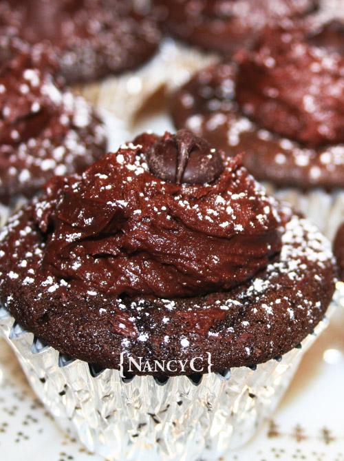 Dark Chocolate Cupcakes @ NancyC