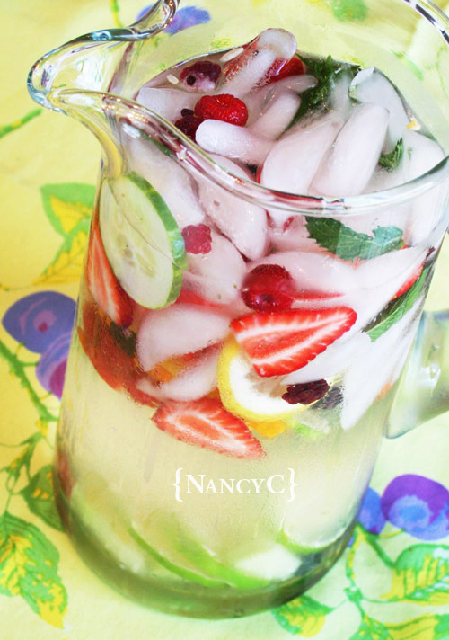feast your eyes on flavored water5 @ nancyc