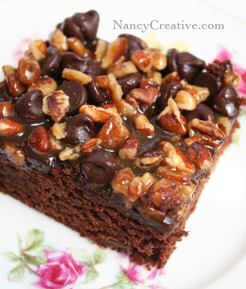 Ann's Decadent Turtle Brownies |