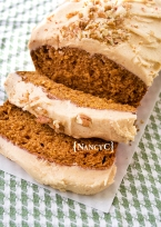 Pumpkin Bread with Pumpkin Buttercream @ NancyC
