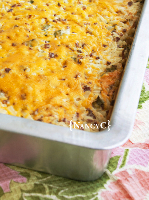 Loaded Hashbrown Potato Casserole @ NancyC