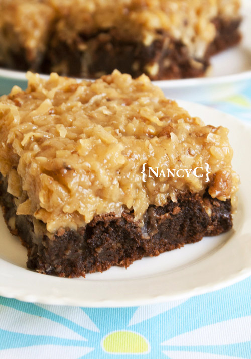 over the top german choc brownies @ nancyc