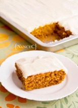 Pumpkin Sheet Cake @ NancyC