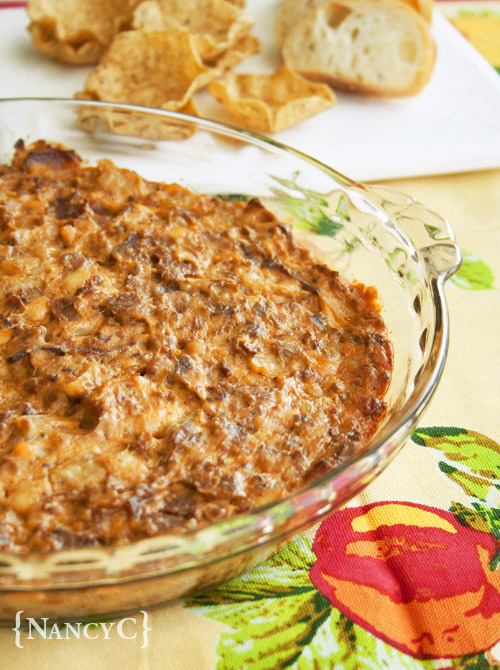 Bacon Double Cheeseburger Dip1 @ NancyC