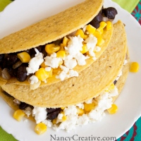 Black Bean, Sweet Corn and Feta Tacos from Mary McCartney's FOOD