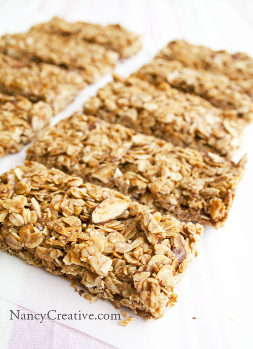 Crunchy Honey Almond Granola Bars | NancyC