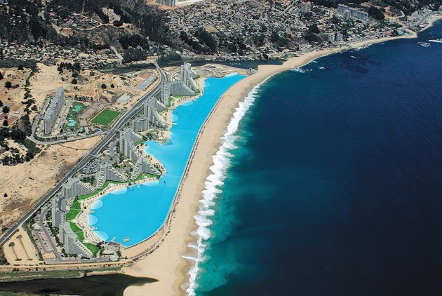 The world s largest outdoor pool for San alfonso del mar swimming pool