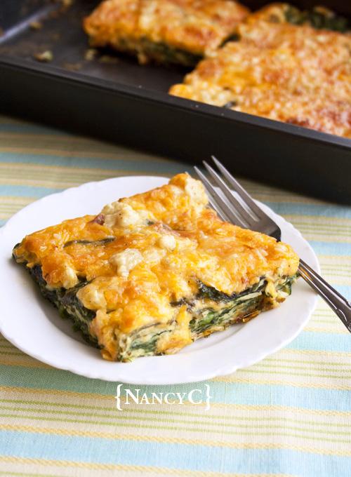 Cheesy Spinach Bake @ NancyC