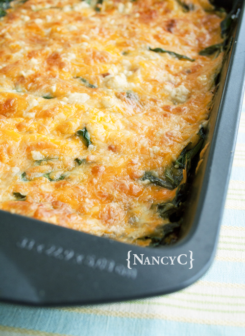 Cheesy Spinach Bake3 @ NancyC