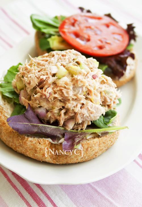 dill pickle tuna salad @ nancyc