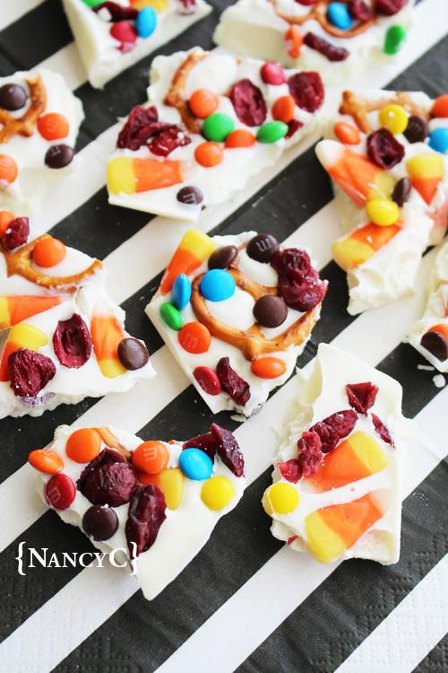 Candy Corn Bark @ NancyC