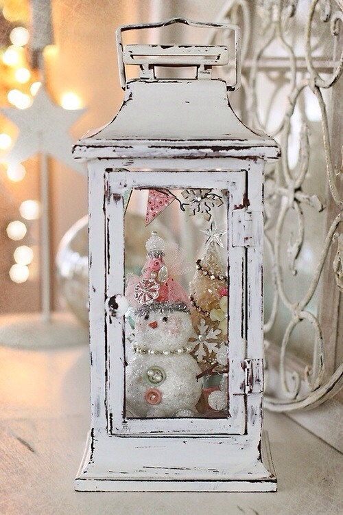 from a fanciful diversion a shabby chic lantern filled with a