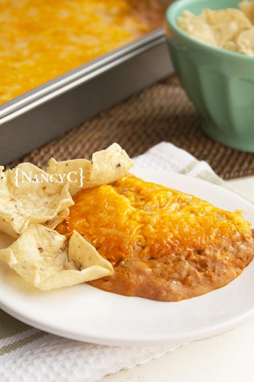 Texas Trash Warm Bean Dip2 @ NancyC