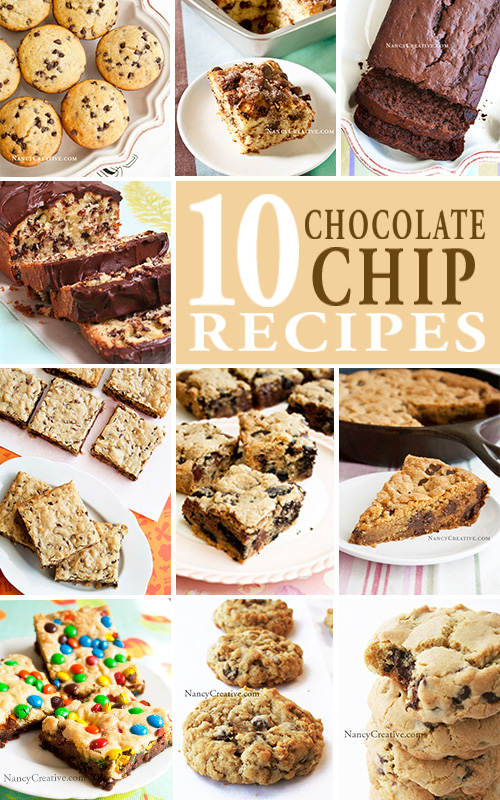 10ChocolateChipRecipes@NancyCreative.com