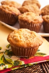 Ginger-Pear Muffins with Crumb Topping @ NancyCreative.com