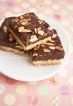 Dark Chocolate Almond Shortbread @ NancyC