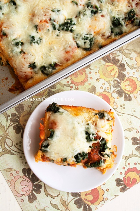 Easy Cheesy Lasagna @ NancyC