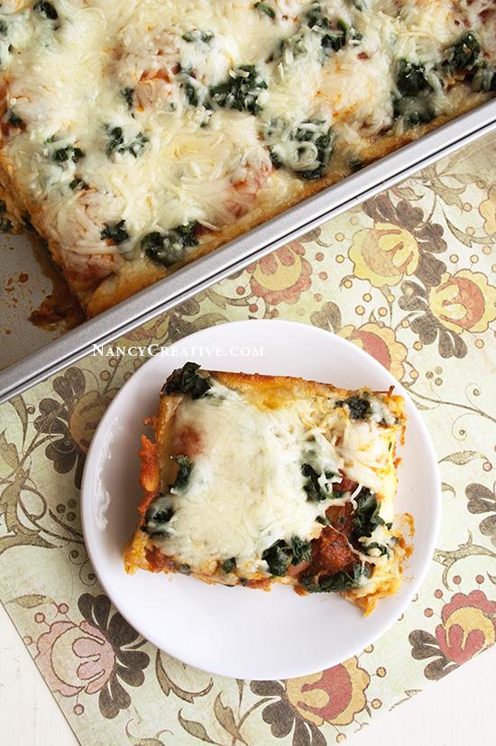Easy Cheesy Lasagne @ NancyC