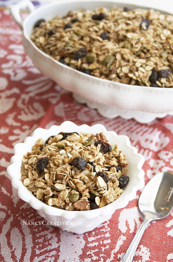 Maple Cinnamon Raisin Granola @ NancyC