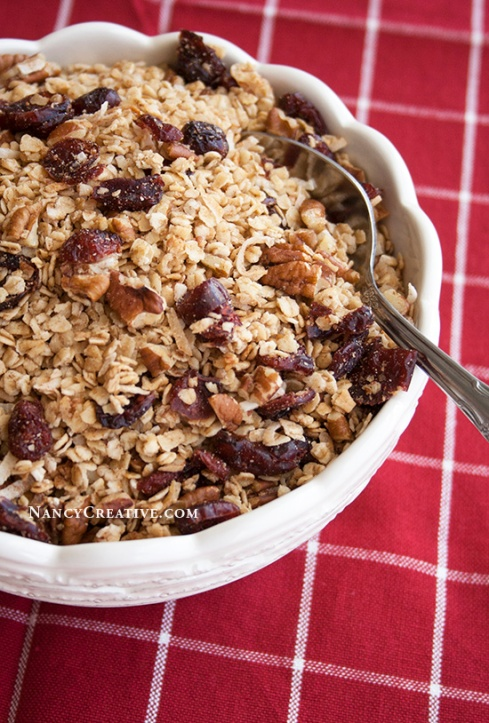 Cranberry Quick Oats Granola @ NancyC
