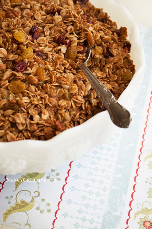 Gingerbread Granola @ NancyC