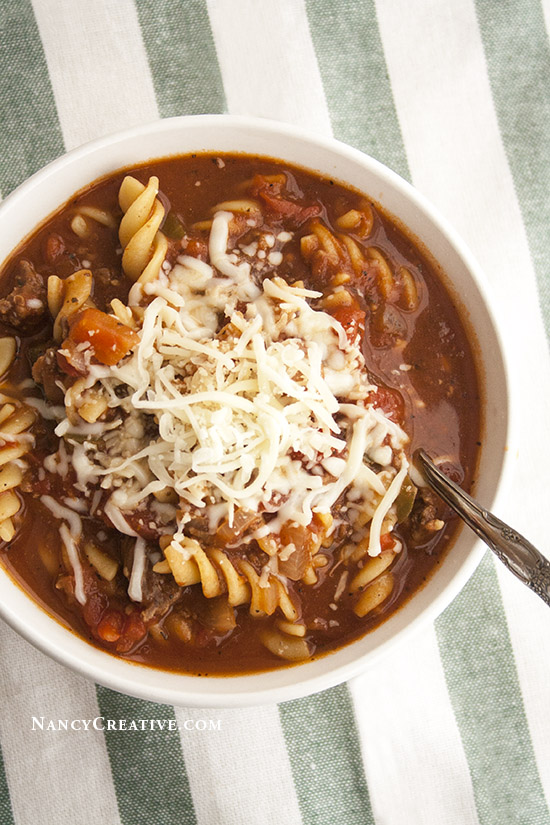 Easy Lasagna Soup @ NancyC