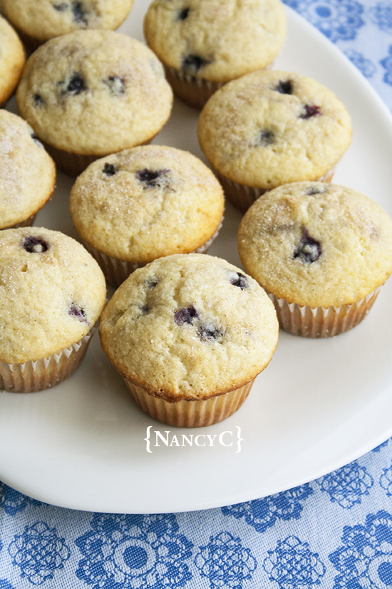 Blueberry Buttermilk Muffins @ NancyC