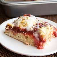 Easy Cherry Almond Coffee Cake