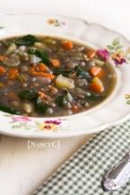 Veggie Lentil Soup @ NancyC