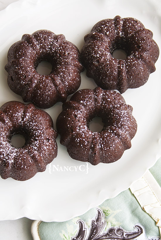 Mini Brownie Bundts @ NancyC