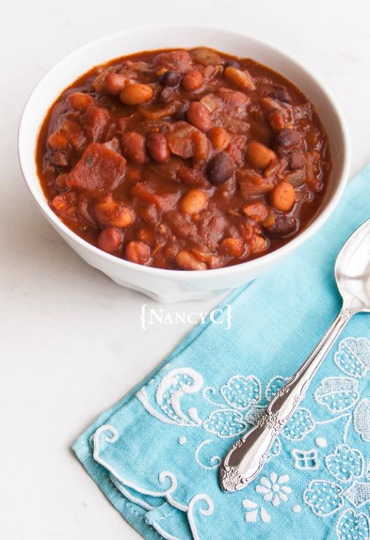 Three Bean Veggie Chili @ NancyC