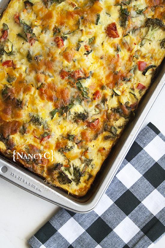 Egg Veggie Breakfast Bake2 @ NancyC