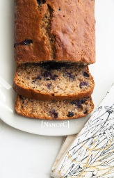 Blueberry Applesauce Bread @ NancyC