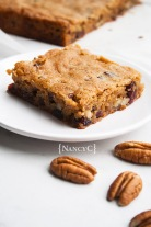 Cranberry Pecan Blondies @ NancyC