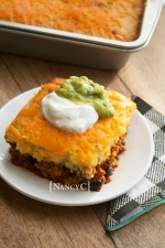 Cheesy Chili Cornbread Bake @ NancyC