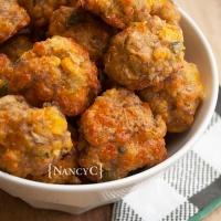 Cornbread Sausage Balls and Cheesy Chili-Cornbread Bake