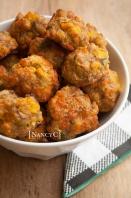 Cornbread Sausage Balls @ NancyC