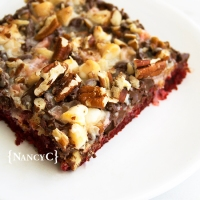 Red Velvet Magic Cookie Bars