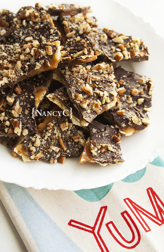 Saltine Cracker Toffee @ NancyC