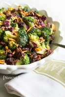 Cranberry Broccoli Salad @ NancyC