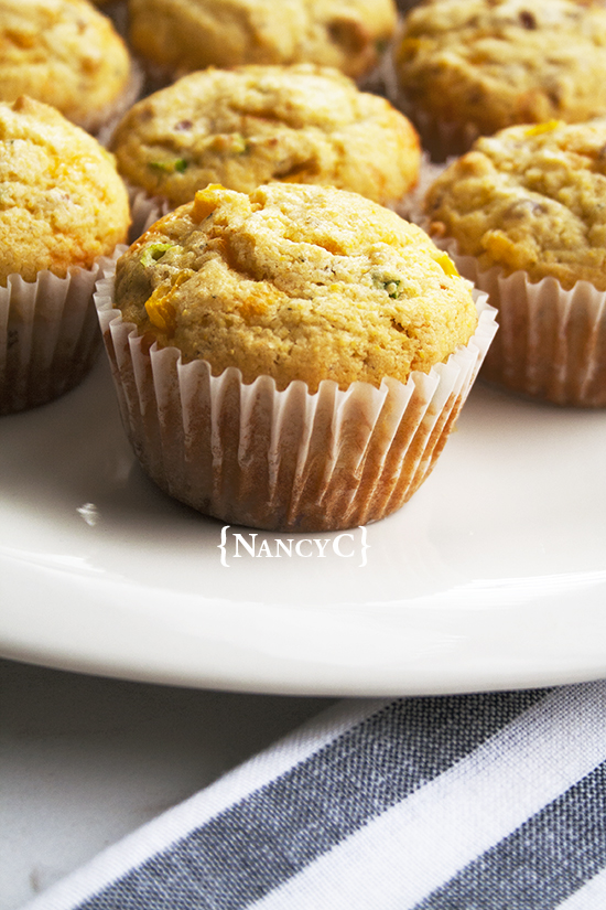 cheesy cornbread muffins with bacon @ nancyc