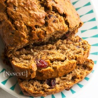 Cranberry Banana Bran Bread