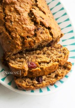 Cranberry Banana Bran Bread @ NancyC