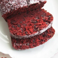 Red Velvet Chocolate Chip Banana Bread