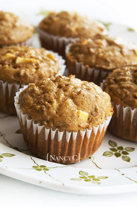 Apple Bran Muffins @ NancyC