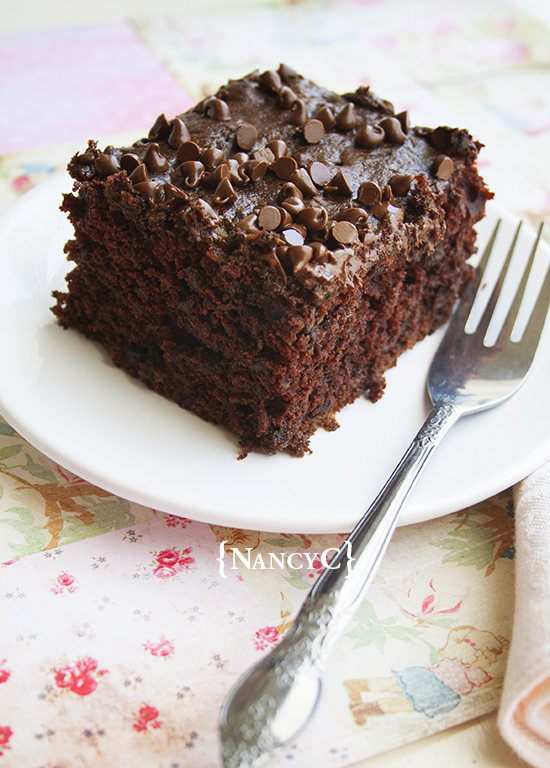 Chocolate Zucchini Snack Cake @ NancyC