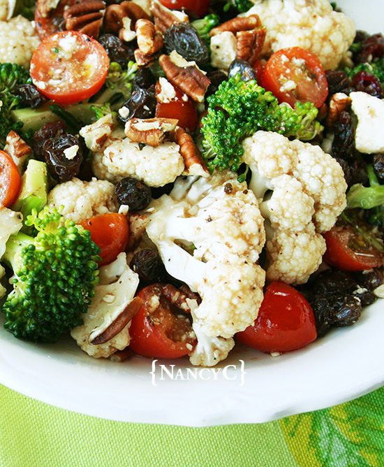 Broccoli-Cauliflower Salad @ NancyC