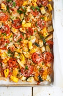 Roasted Summer Squash and Tomatoes @ NancyC