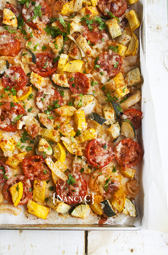 Roasted Summer Squash and Tomatoes @ NancyC